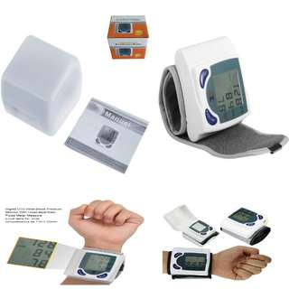 Digital LCD Wrist Cuff Arm Blood Pressure Monitor Heart Beat Meter Tester