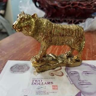 Gold plated tiger