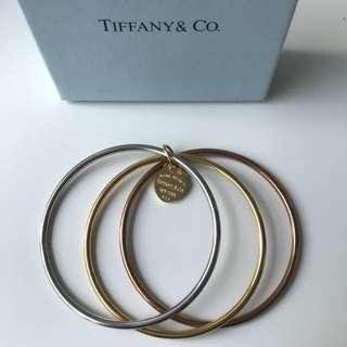 Tiffany co tri tone bangle