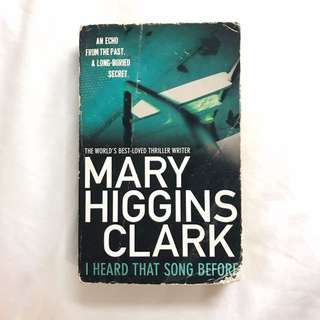 Mary higgins clark - I heard that song before