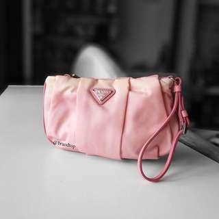 Authentic Prada Pink Nylon Wristlet 1N1422