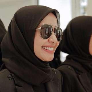 Hijab pollycotton hitam
