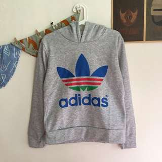 Adidas三葉草刷毛連帽T恤