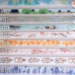 Washi Tape Samples- buy 5 get 1 free random design