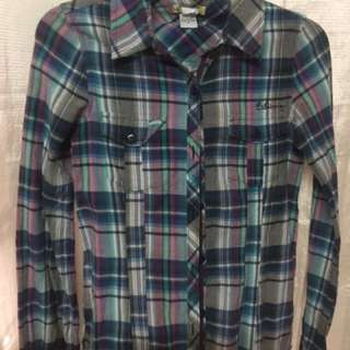 Billabong Checkered Long Sleeves - Small