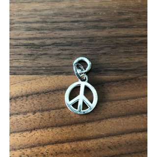 Authentic Tiffany & Co. Peace Sign charm with sterlings silver