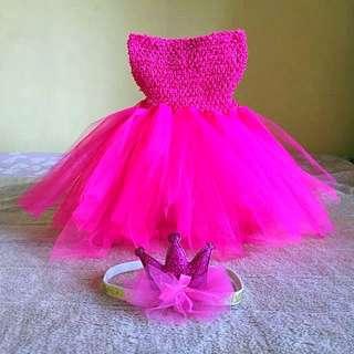 🐱 Tutu cute dress with free hair bows 🐱