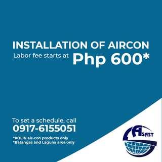KOLIN Aircon Installation
