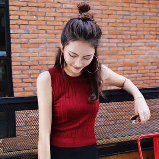 BN Maroon Knitted Top