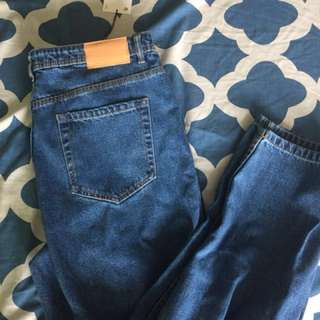 Zara high waisted mom jeans