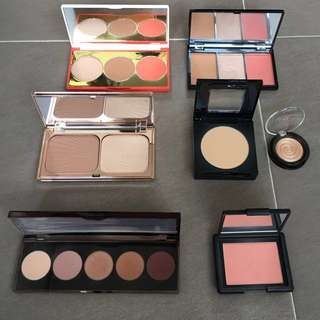 Face and Eyeshadow Palettes (Becca, NARS, Maybelline, Charlotte Tilbury, Make Up Revolution, Sonia Kashuk, Laura Geller)