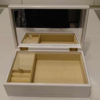 木製{長方形} 首飾音樂鏡盒