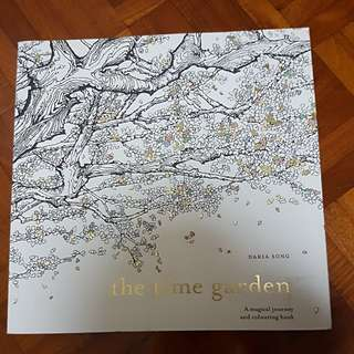 Adult Colouring Book- The Time Garden