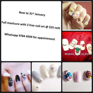 Full set gel manicure @ $25