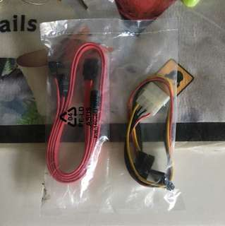 SATA Power and Signal Data Cables