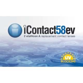 Contactlens Clear monthly 2 pieces per box iContact58ev