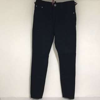 Black High Waist Bangkok Denim Pants