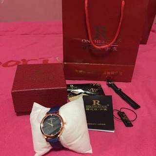 • brand new Men's watch / blue color