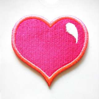 Heart Love Shape Neon Valentine Outline Iron On Patch