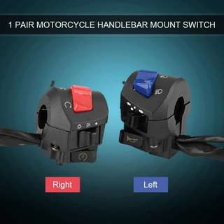 "Motorcycle 7/8"" Right & Left Handlebar Control Switch"