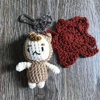 Crochet Keychain - Boglegel / Mr Buckwheat (Goblin)