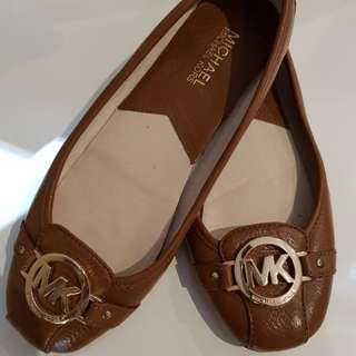 Michael Kors Fulton Leather Moccasins in tan