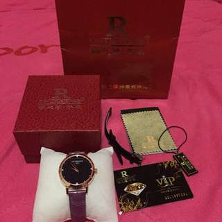 • brand new Men's watch / purple