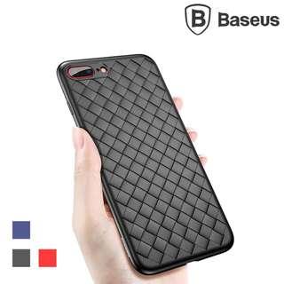 iPhone 8 / 7專用BASEUS BV編織套 四邊全包 防指紋編織格紋 手機保護套Case GSA3980A