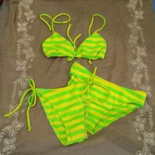 2 piece neon bikini