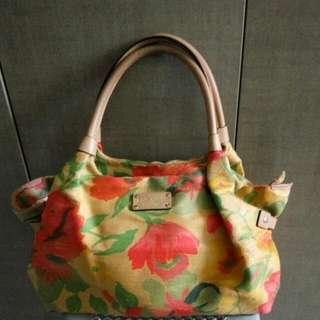 Kate Spade Floral Canvas Bag Stevie Series