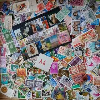 World Mix Stamps 500 pcs lot A6 BL501