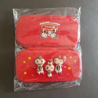 Brand New OCBC Mighty Savers Pencil Case ($5 each, 2 for $8)