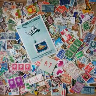 World Mix Stamps 500 pcs lot A7 BL502