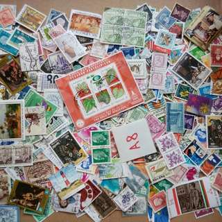 World Mix Stamps 500 pcs lot A8 BL503