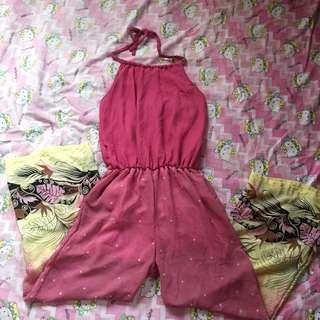 Pink Halter Jumpsuit