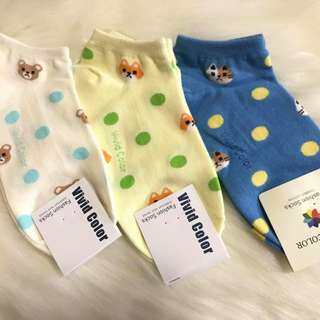 Korean Socks (Animals with Polka dots)