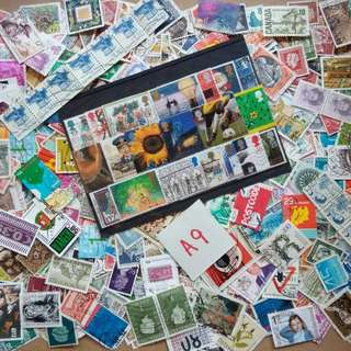 World Mix Stamps 500 pcs lot A9 BL504