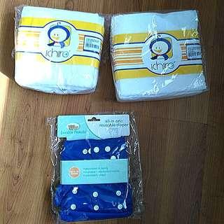 Luvable reusable diaper & Ichiro premium napkin #feb50