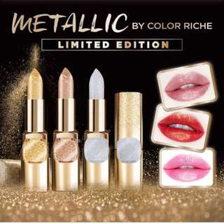 L'Oréal Paris Limited Edition Metallic Lipstick in Champagne Rose / Pure Gold
