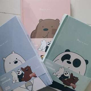 WE BARE BEAR notebook