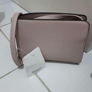 Stradivarius sling bag double zipper