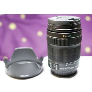 CANON LENS 18-135mm with LENS HOOD