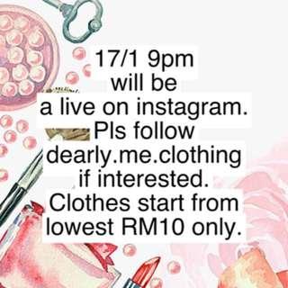 Live on instagram
