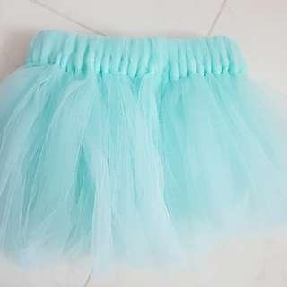 Turquoise tutu skirt for baby girl