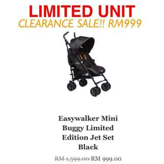Easywalker Mini Buggy Limited Edition - Jet Set Black