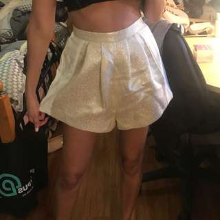 Cute white and gold dressy shorts