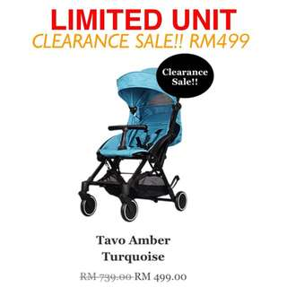 Tavo Amber Stroller - Turquoise