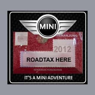 Road Tax Sticker - Mini