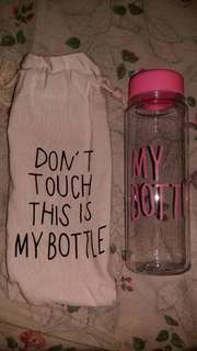 Plastic Drinking Bottle with pouch