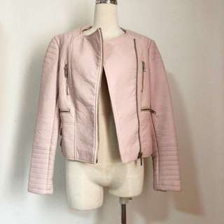 Pink Moto Leather Jacket